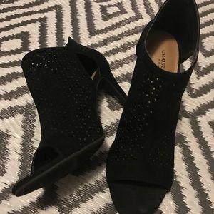 Christian Siriano Black peep-toe heels size 8.5